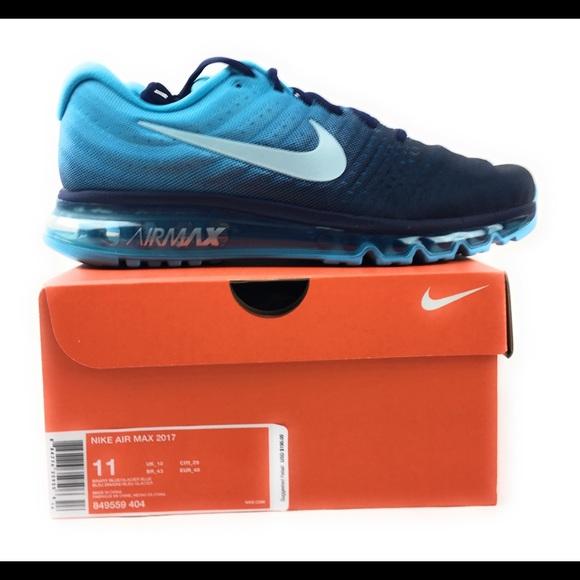 Nike Air Max 2017 Running Shoes Binary Glacier Blu NWT